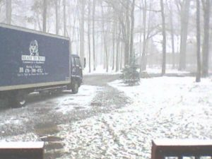 Ready To Move LLC Moving Truck in Snow